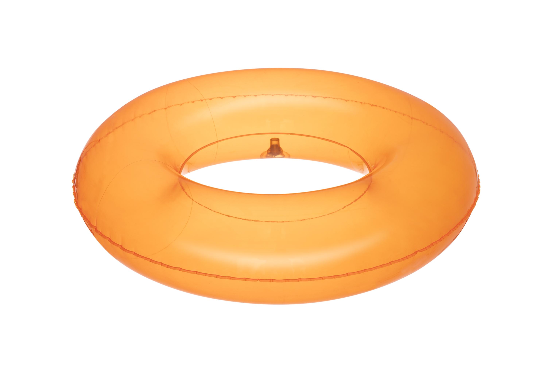 Bestway 36022 läbipaistev ujumisrõngas 51cm ORANGE