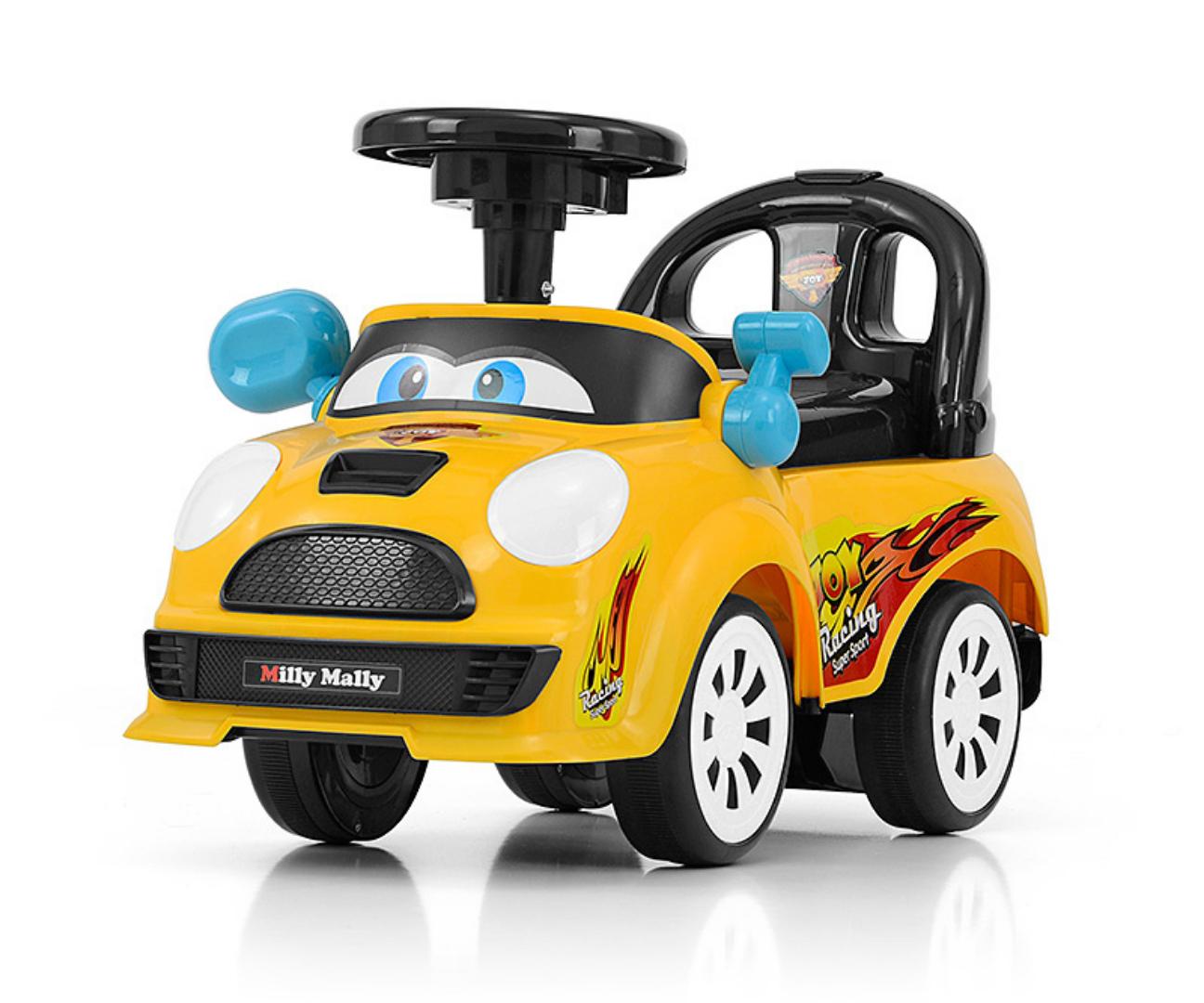 Milly Mally pealeistutav sõiduk Joy Yellow