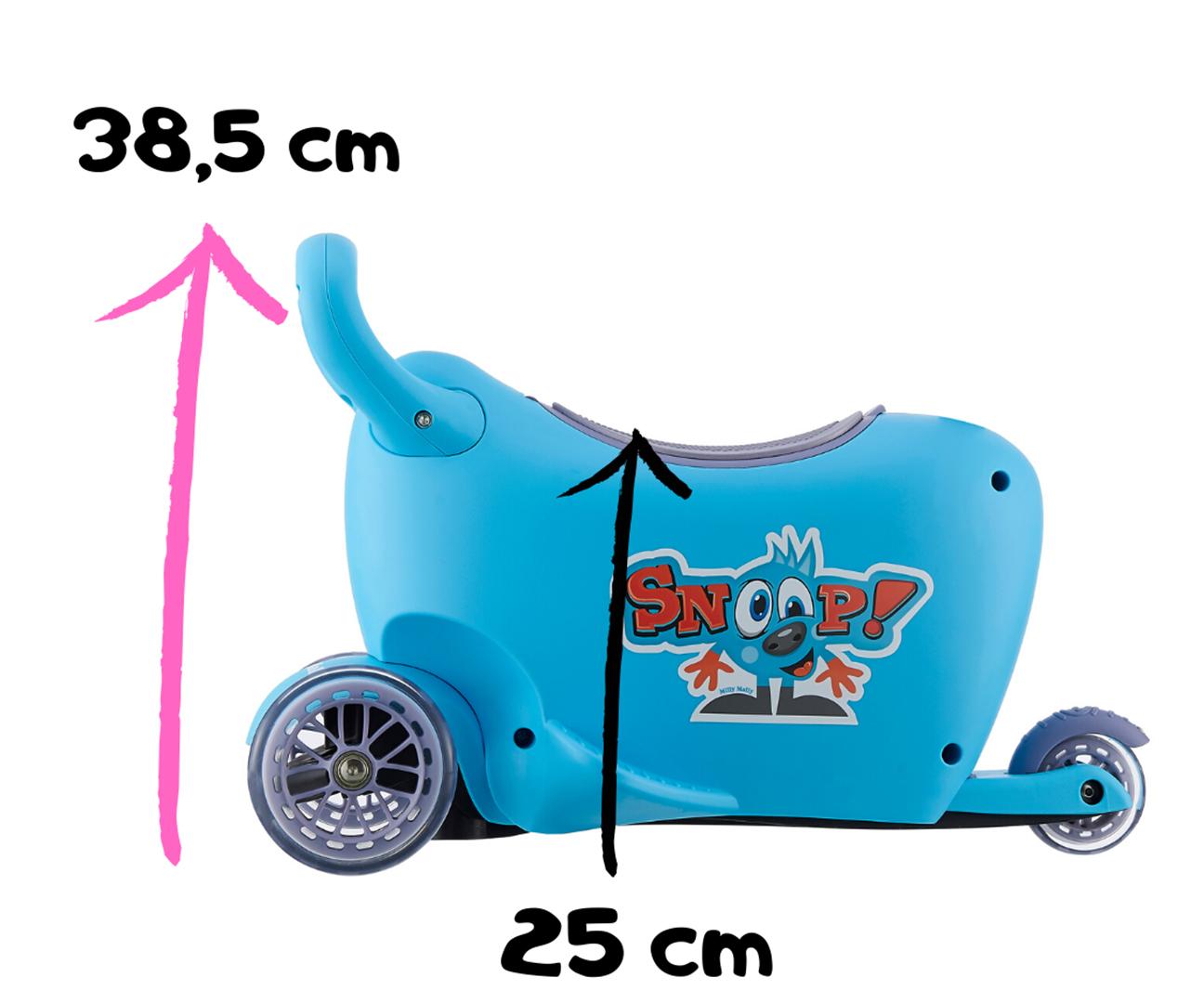 Milly Mally pealeistutav sõiduk Snoop! Kolm ühes Red