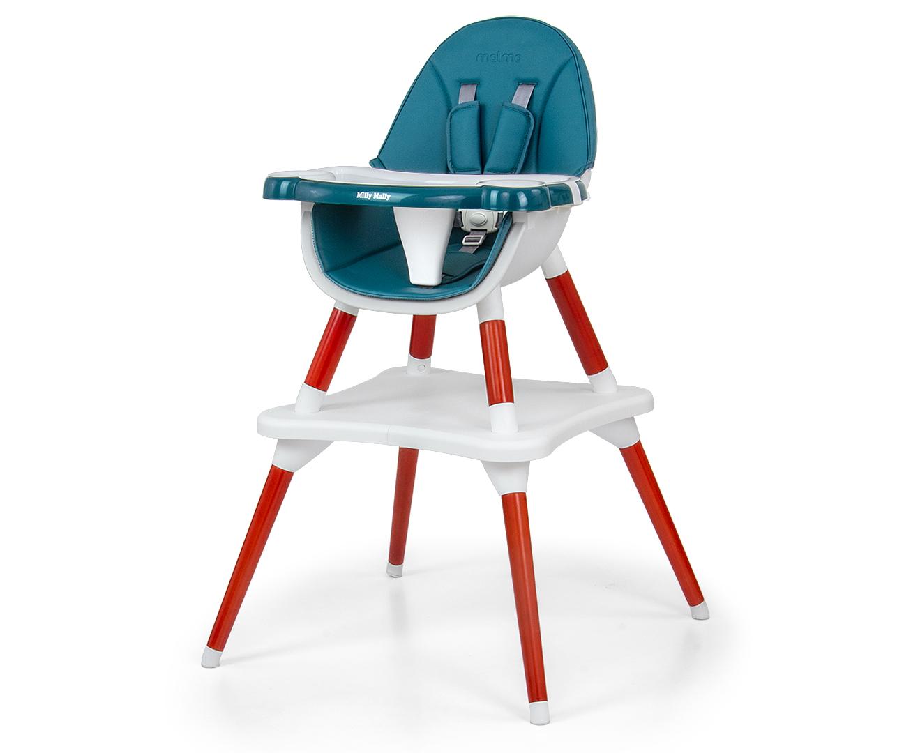 Krzeselko do karmienia 2w1 Malmo Dark Green