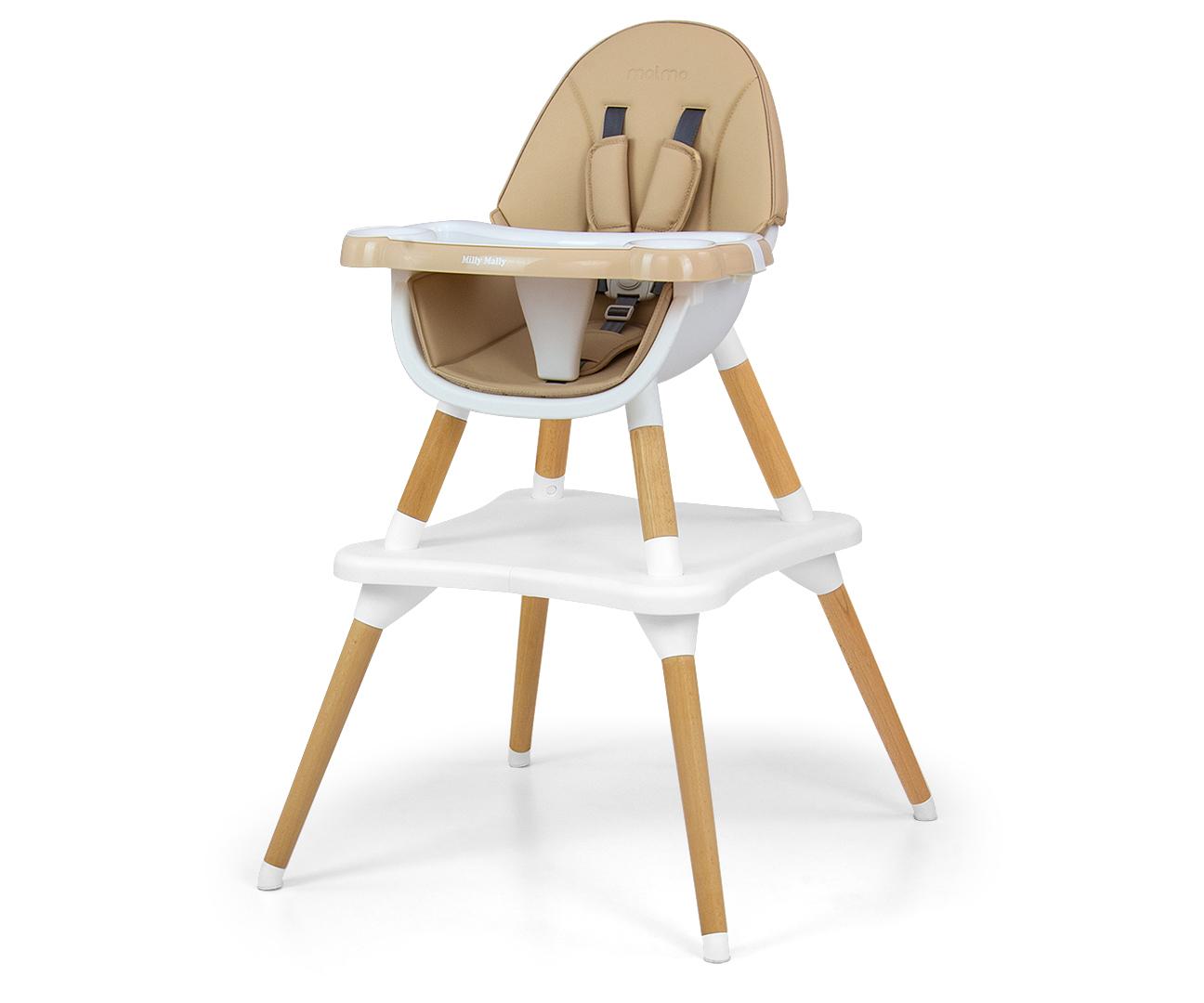 Krzeselko do karmienia 2w1 Malmo Beige