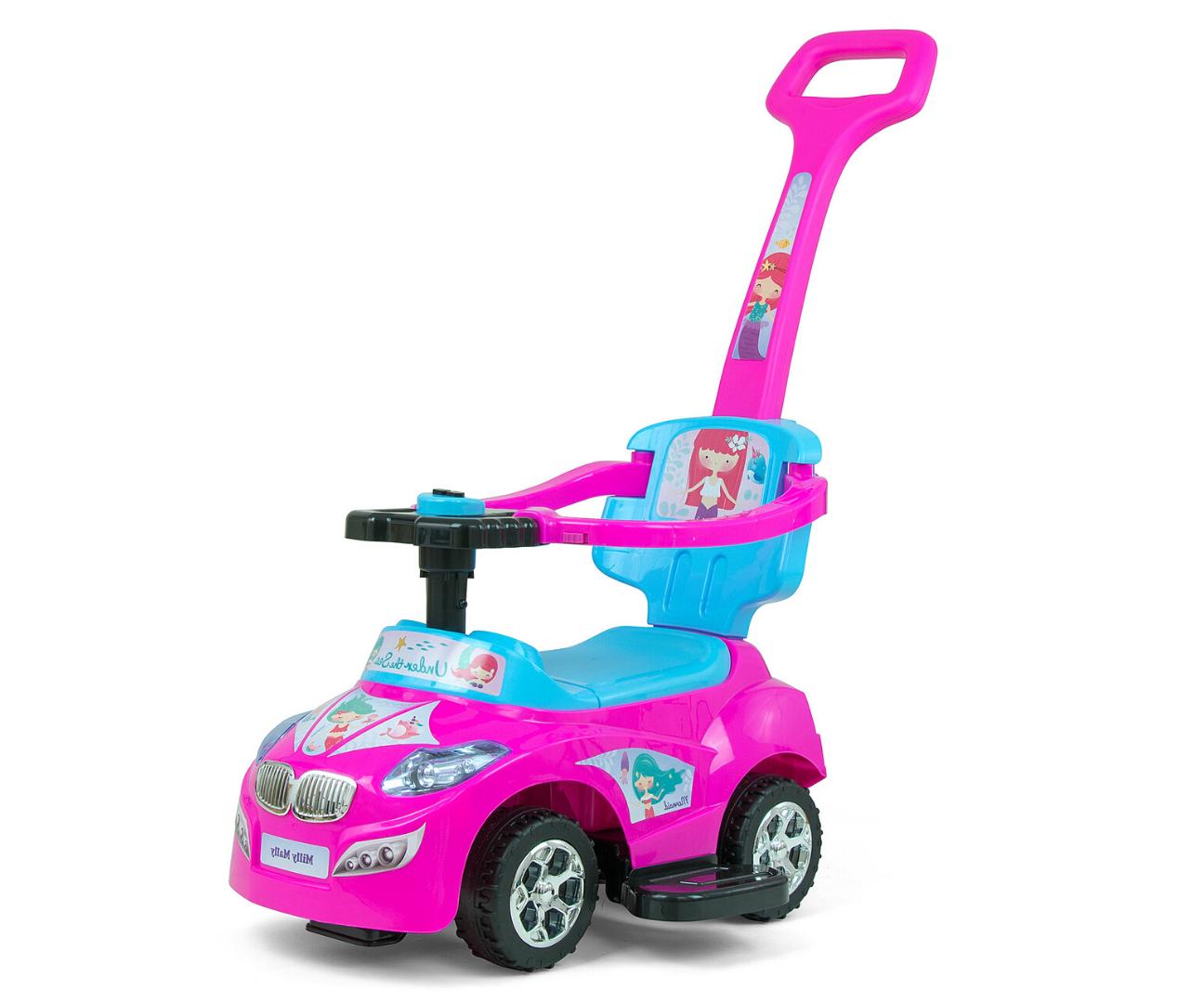 Pealeistutav sõiduk Happy Pink-Blue