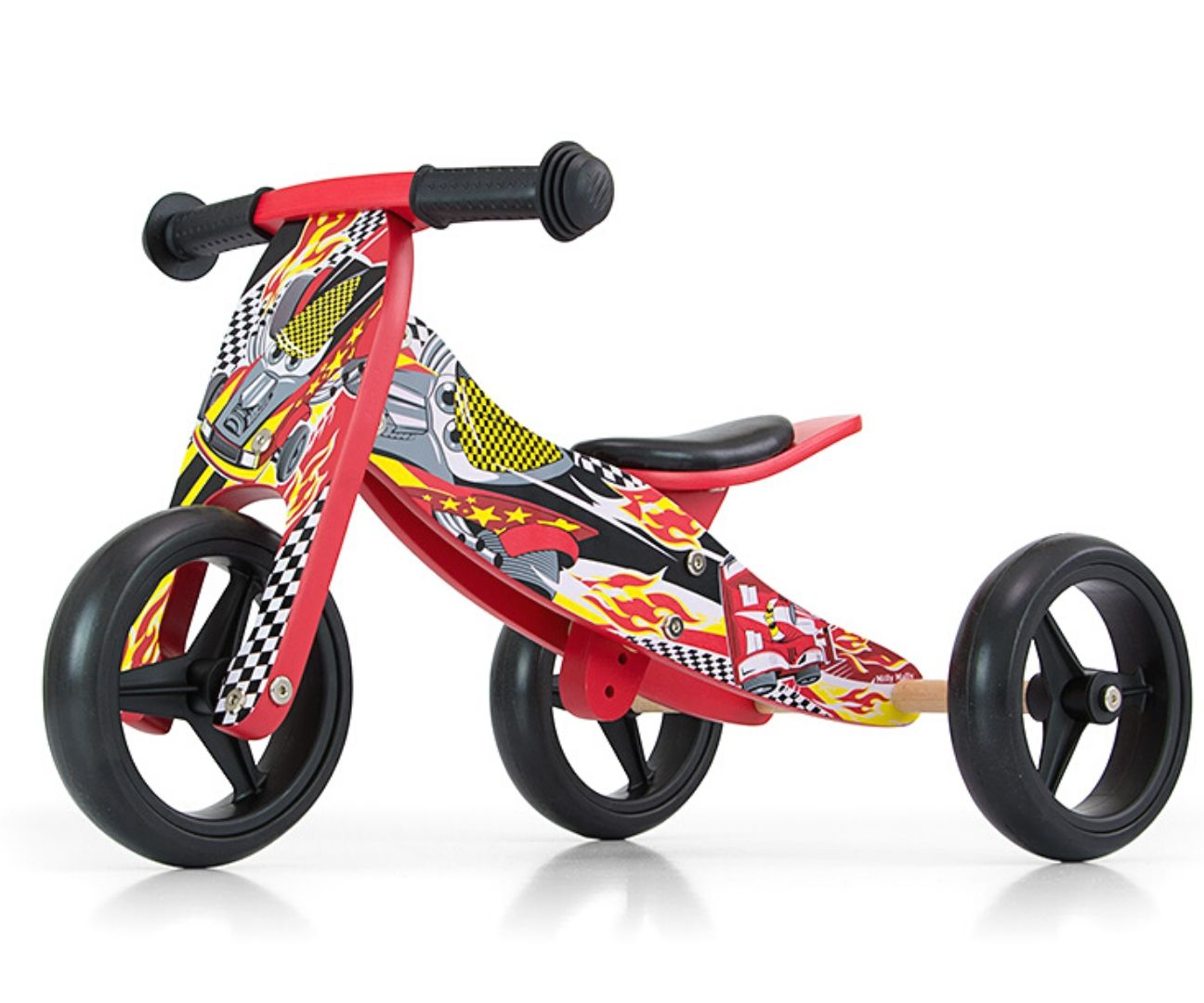 Milly Mally tasakaaluratas 2in1 Jake Red Cars