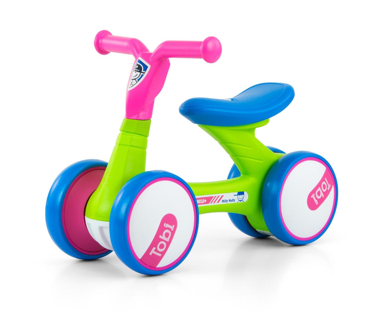 Milly Mally pealeistutav sõiduk Tobi Pink-Green