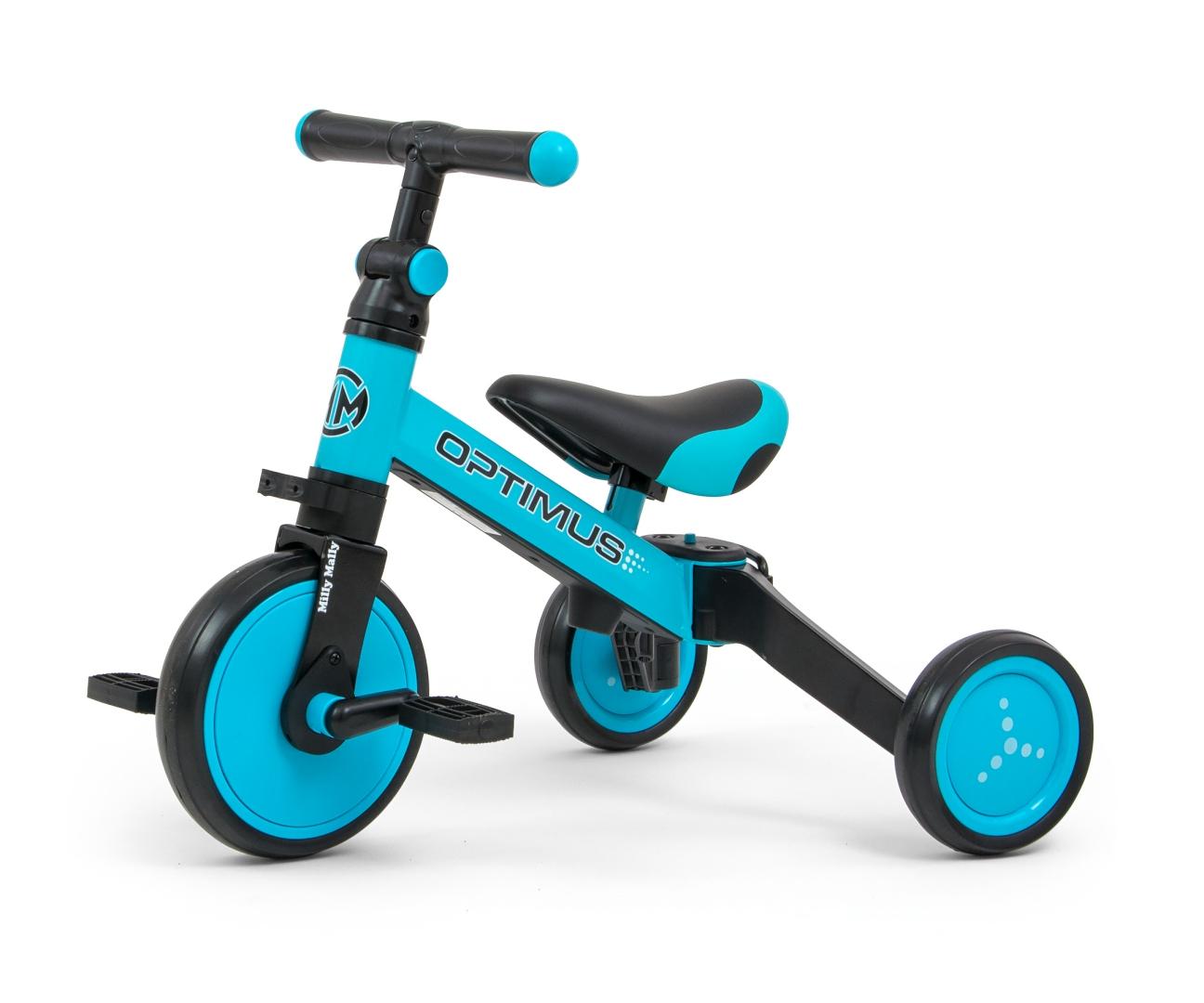 Milly Mally pealeistutav sõiduk – Bike Kolm ühes OPTIMUS Blue