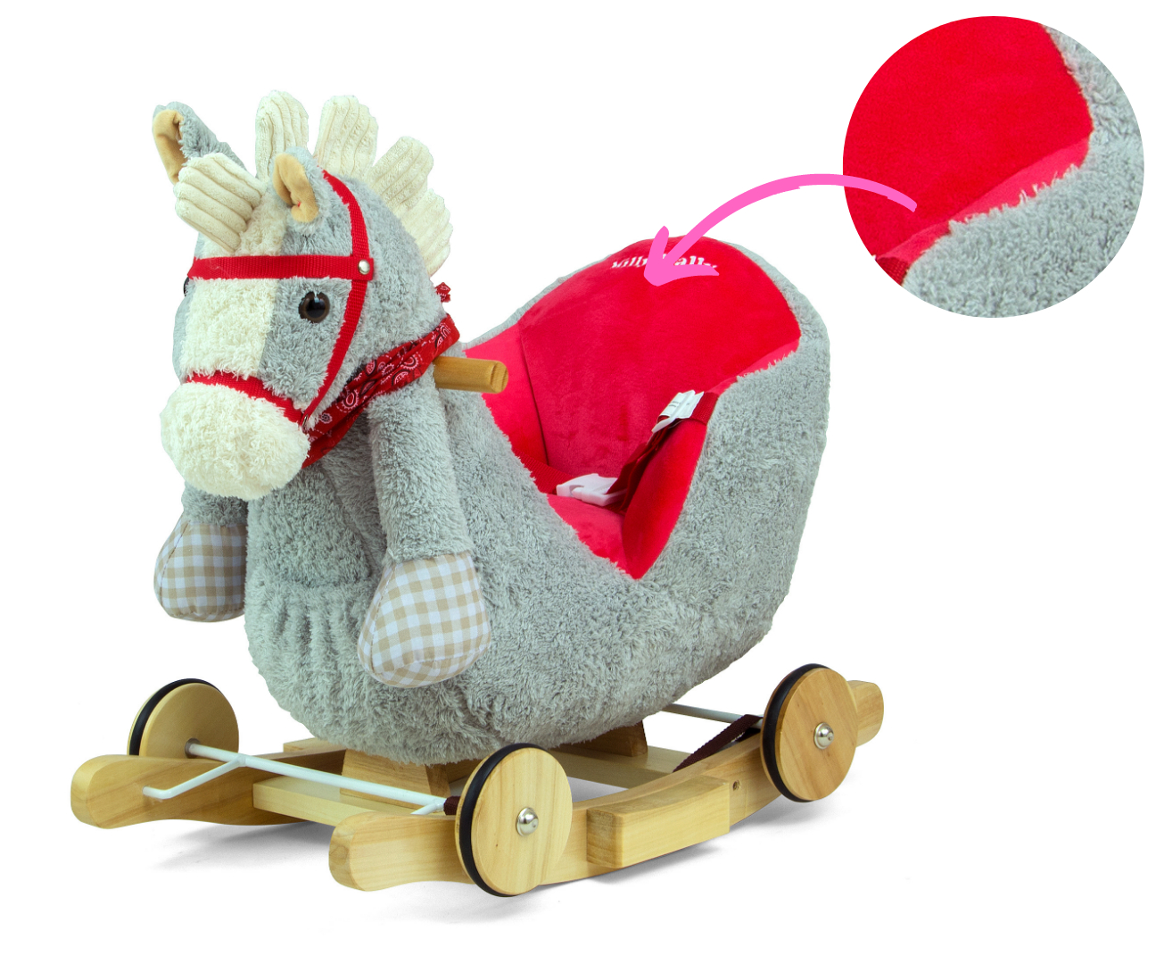 Kiikhobune Polly - Punane hobune (laos)