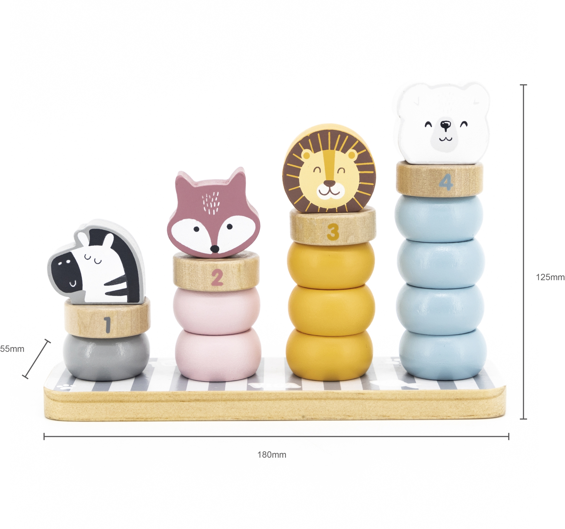 PolarB arendav mänguasi - loomatornid