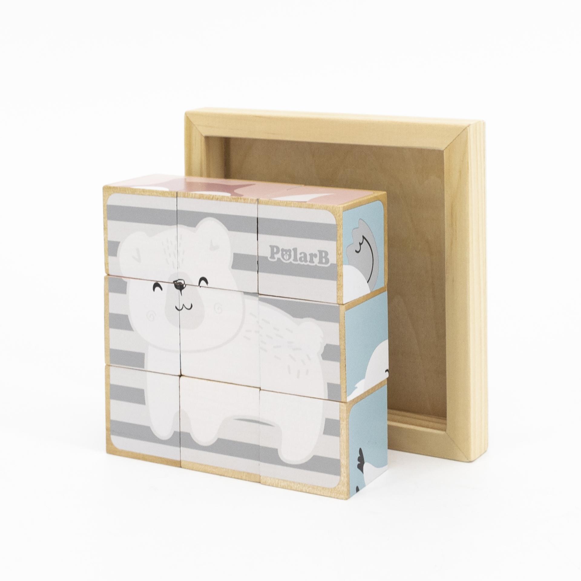 PolarB kuubikpuzzle - 9 klotsi