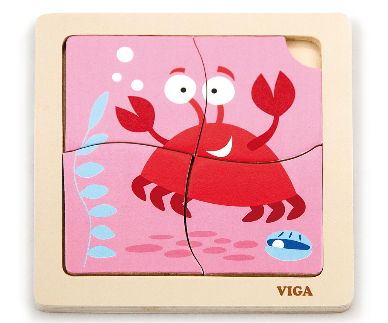 Viga 50146 Puidust puzzle - krabi