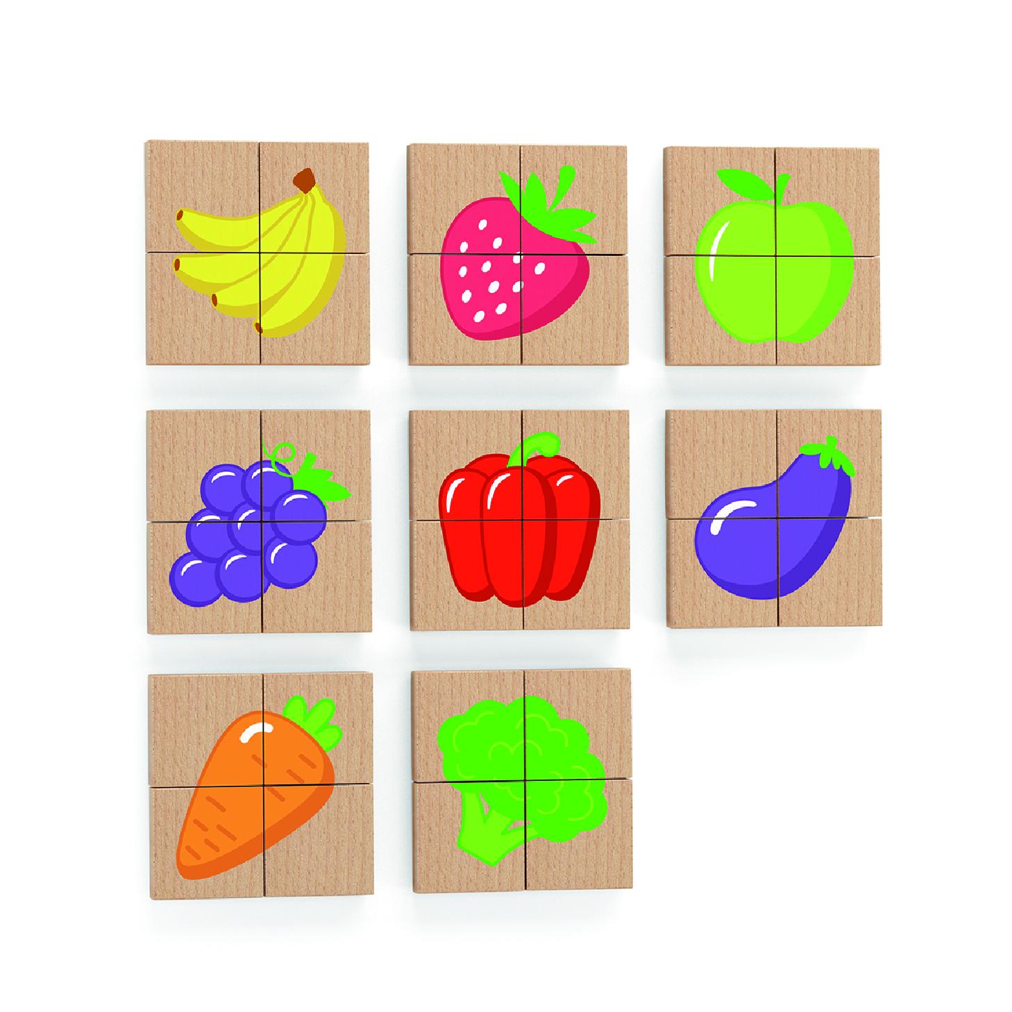 Viga 50700 magneetiline puzzle - puuviljad, juurviljad