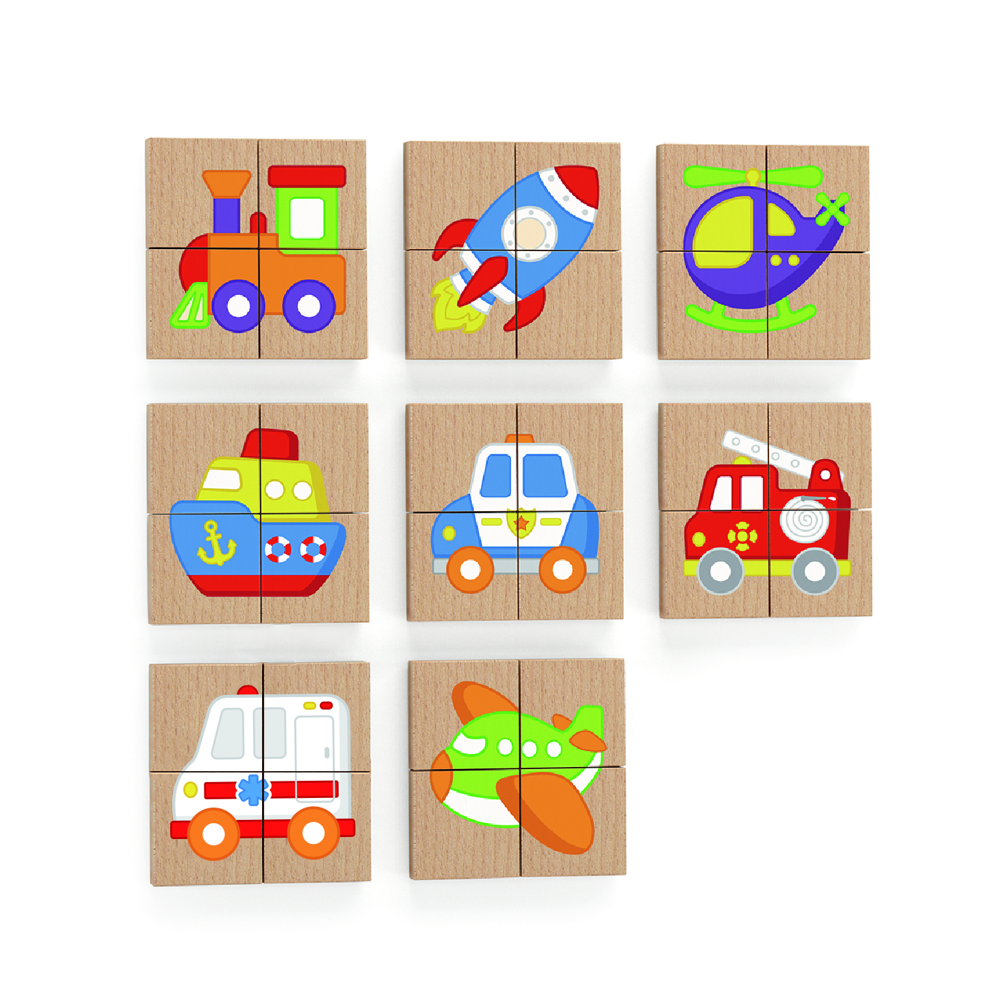Viga 50723 Zestaw puzzli magnetycznych - transpor..