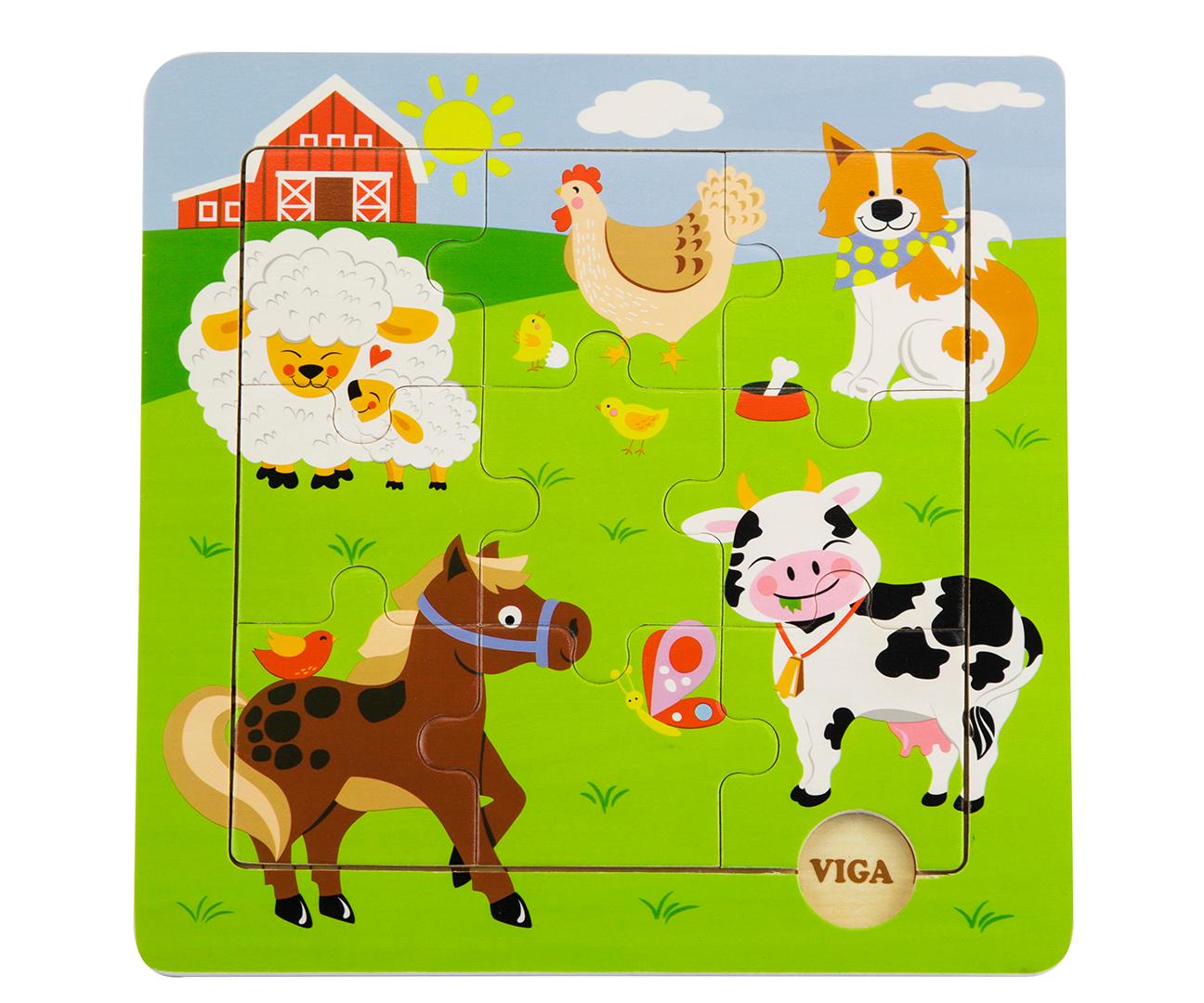 Viga 50837 Puidust puzzle - Farm