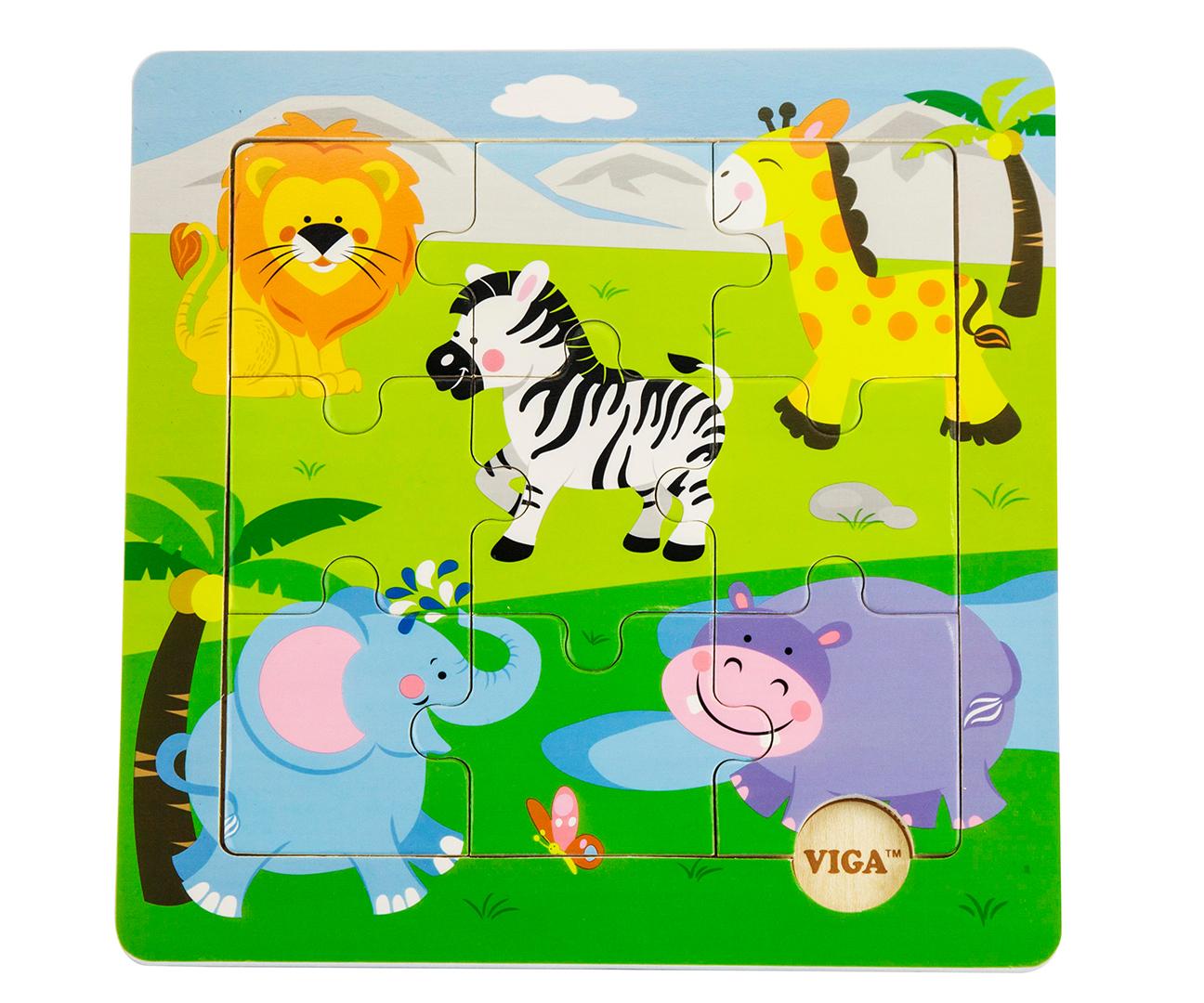 Viga 50838 Puidust puzzle - Loomaaed