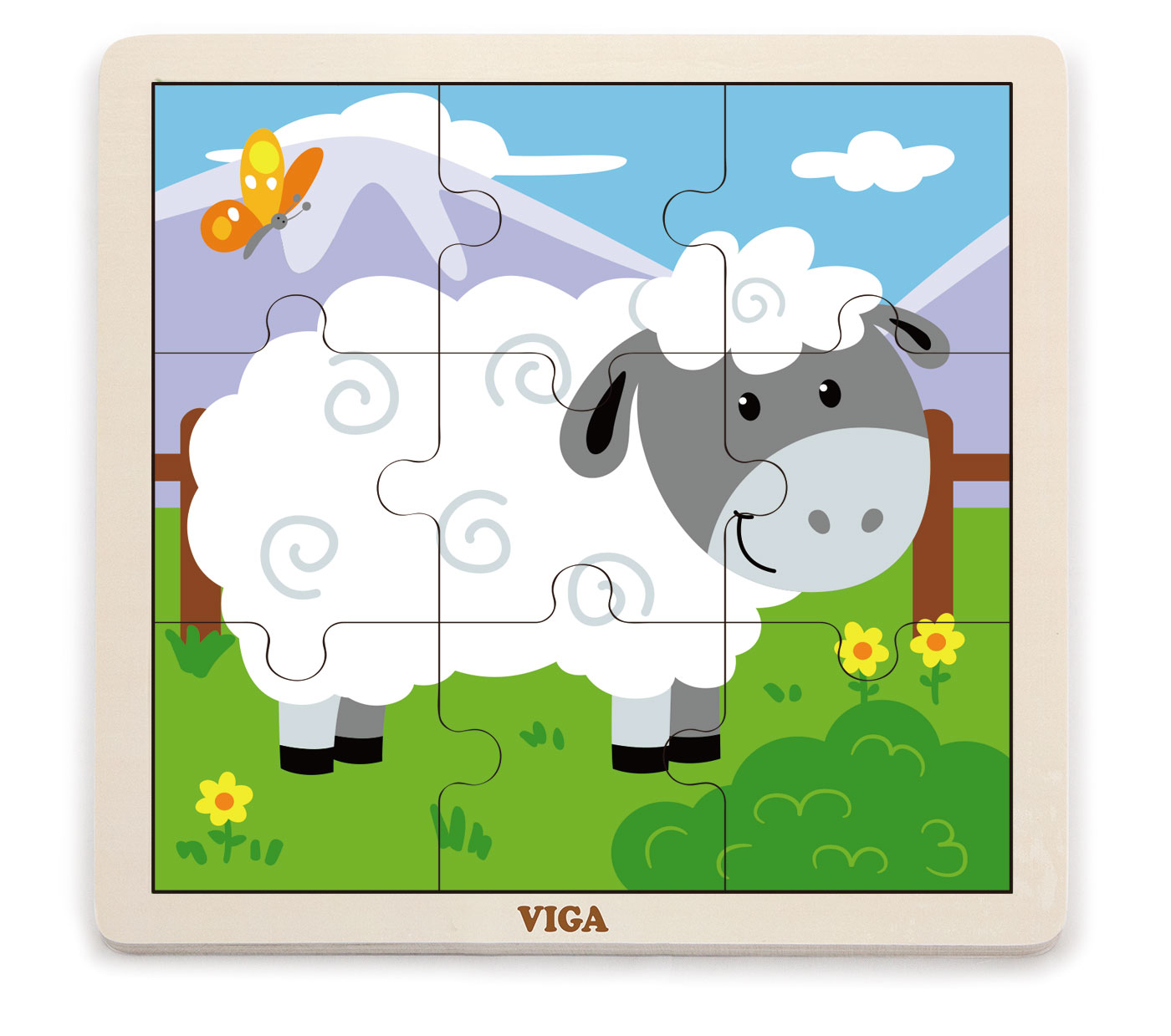 Viga 51437 Puzzle 9 osaline - lammas