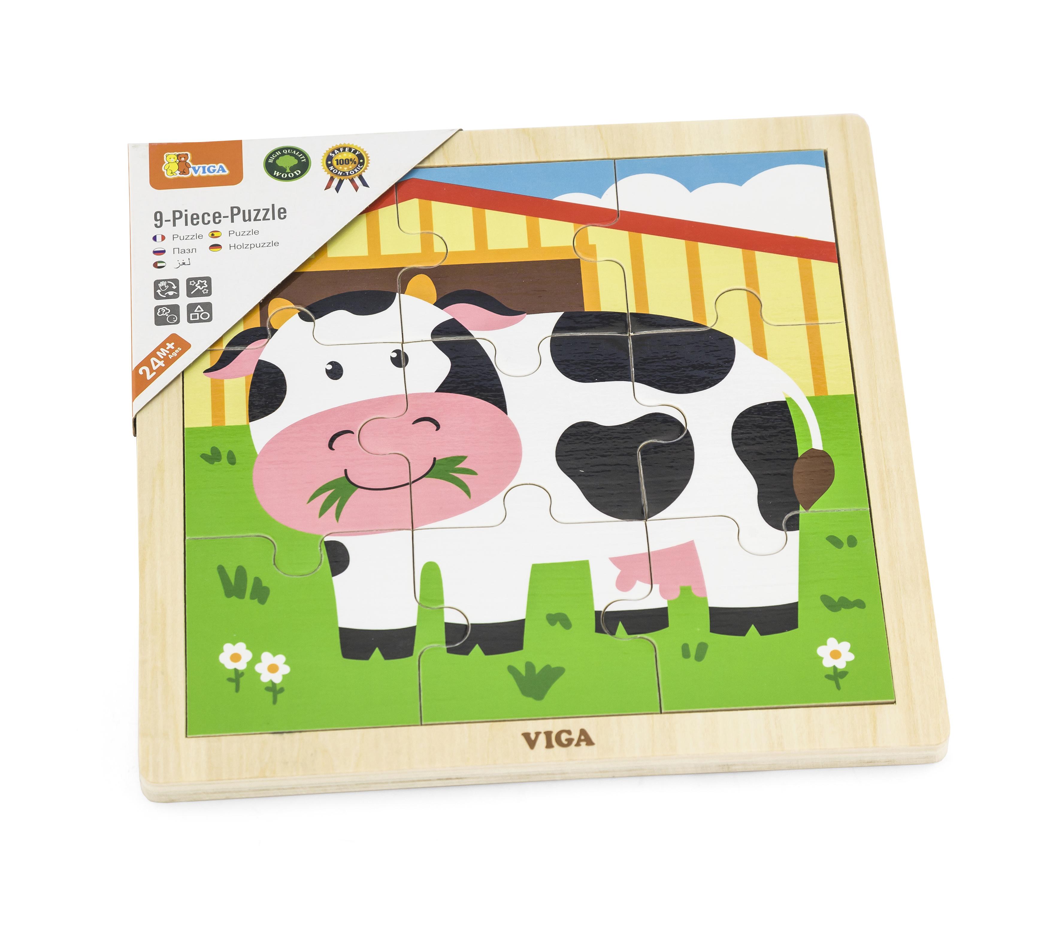 Viga 51438 Puzzle 9 osa - lehm