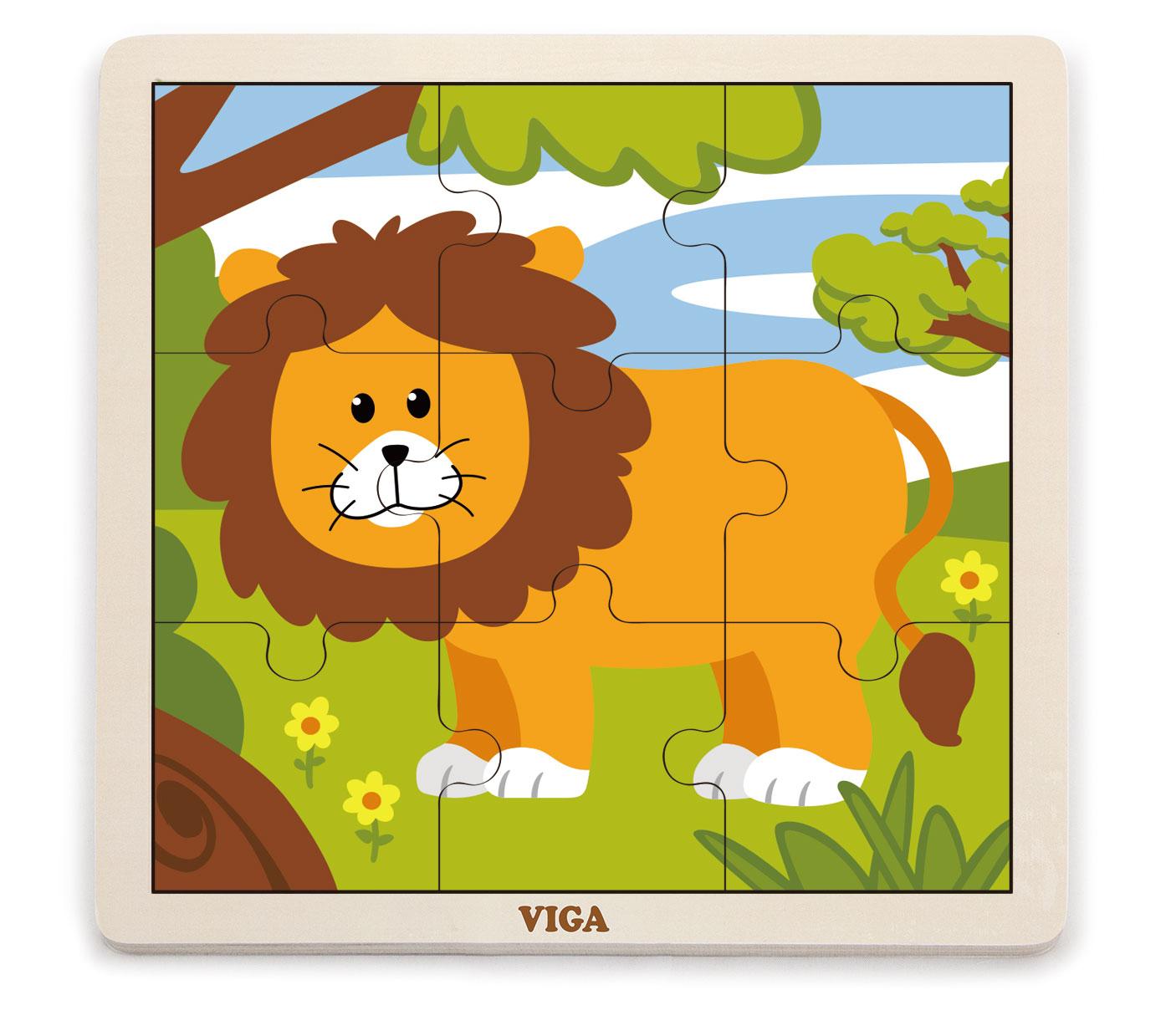 Viga 51442 Puzzle 9 osaline - lõvi