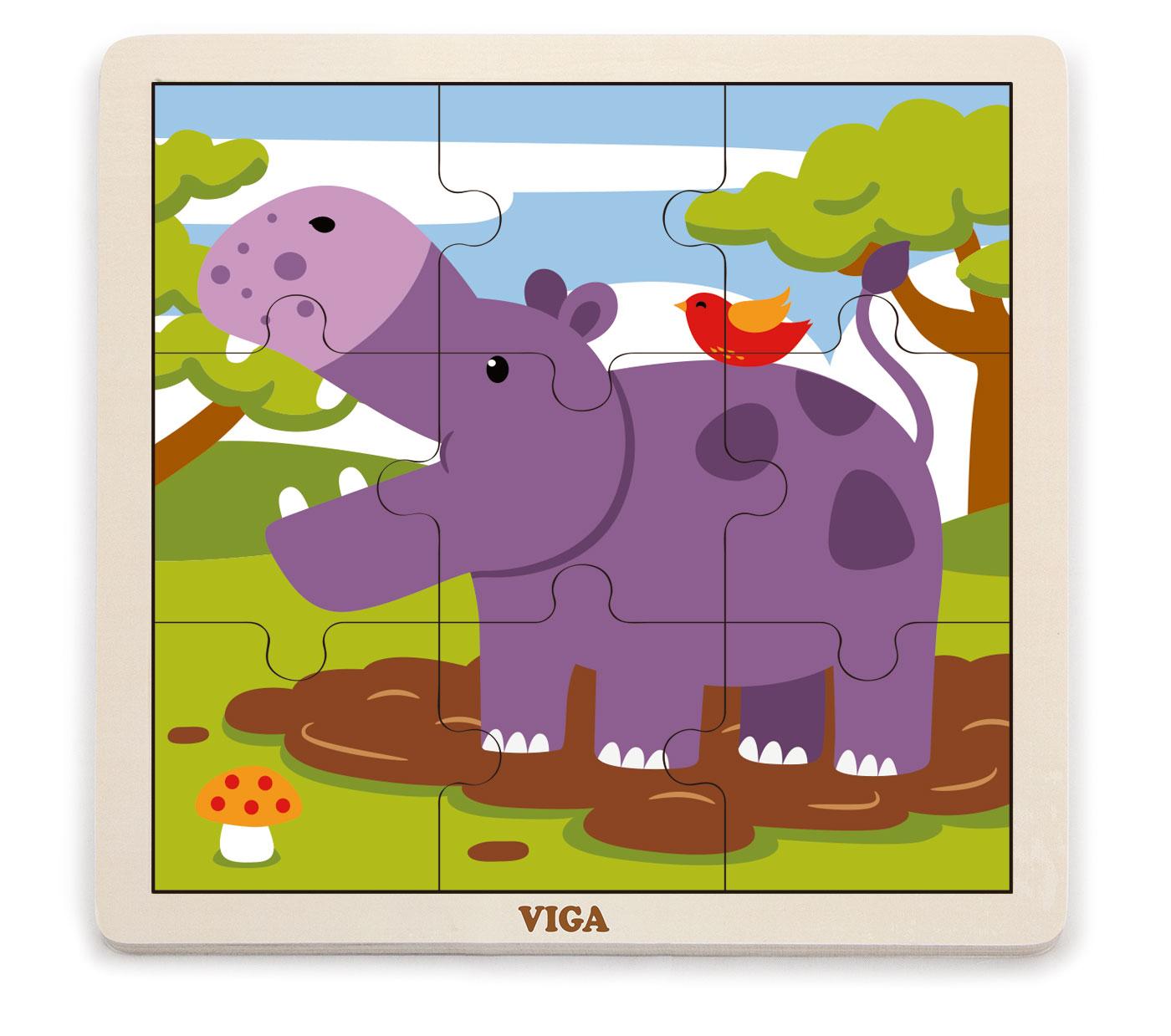 Viga 51443 Puzzle 9 osaline - jõehobu