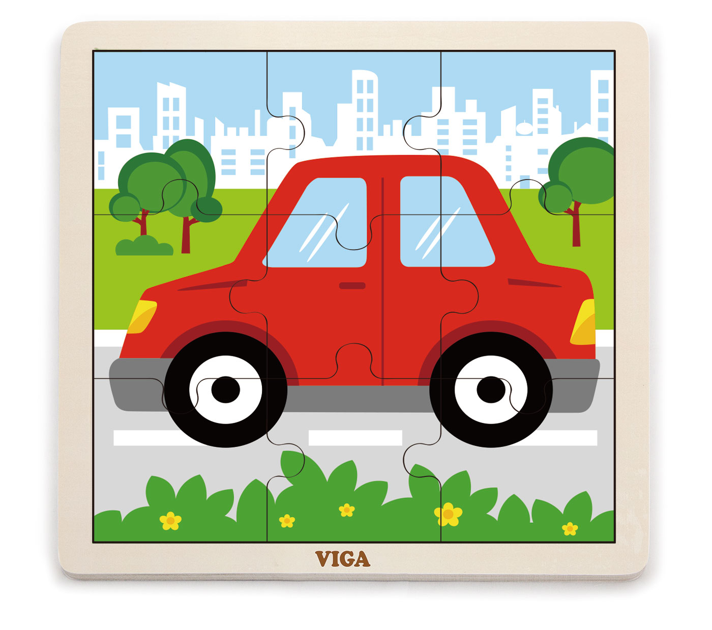 Viga 51444 Puzzle 9 osaline - auto
