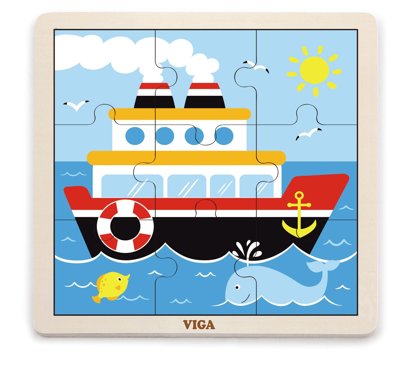 Viga 51445 Puzzle 9 osaline - laev