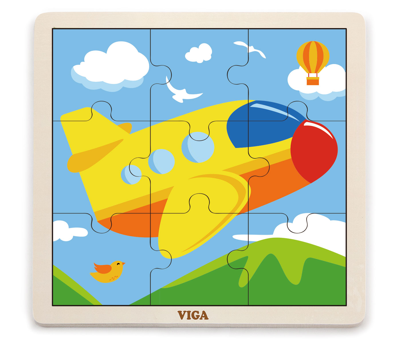 Viga 51447 Puzzle 9 osaline - lennuk