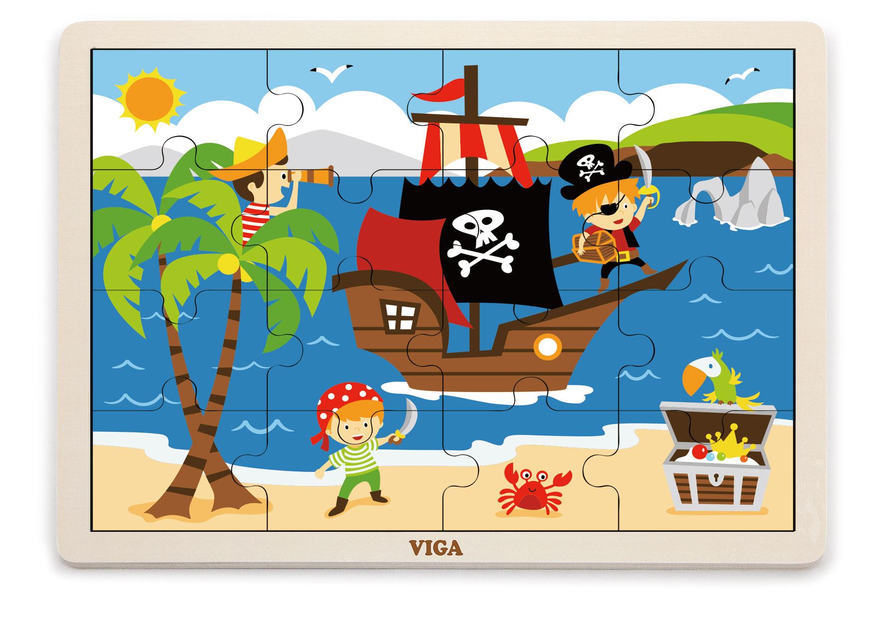 Viga 51459 Puzzle 16 osa - piraadid