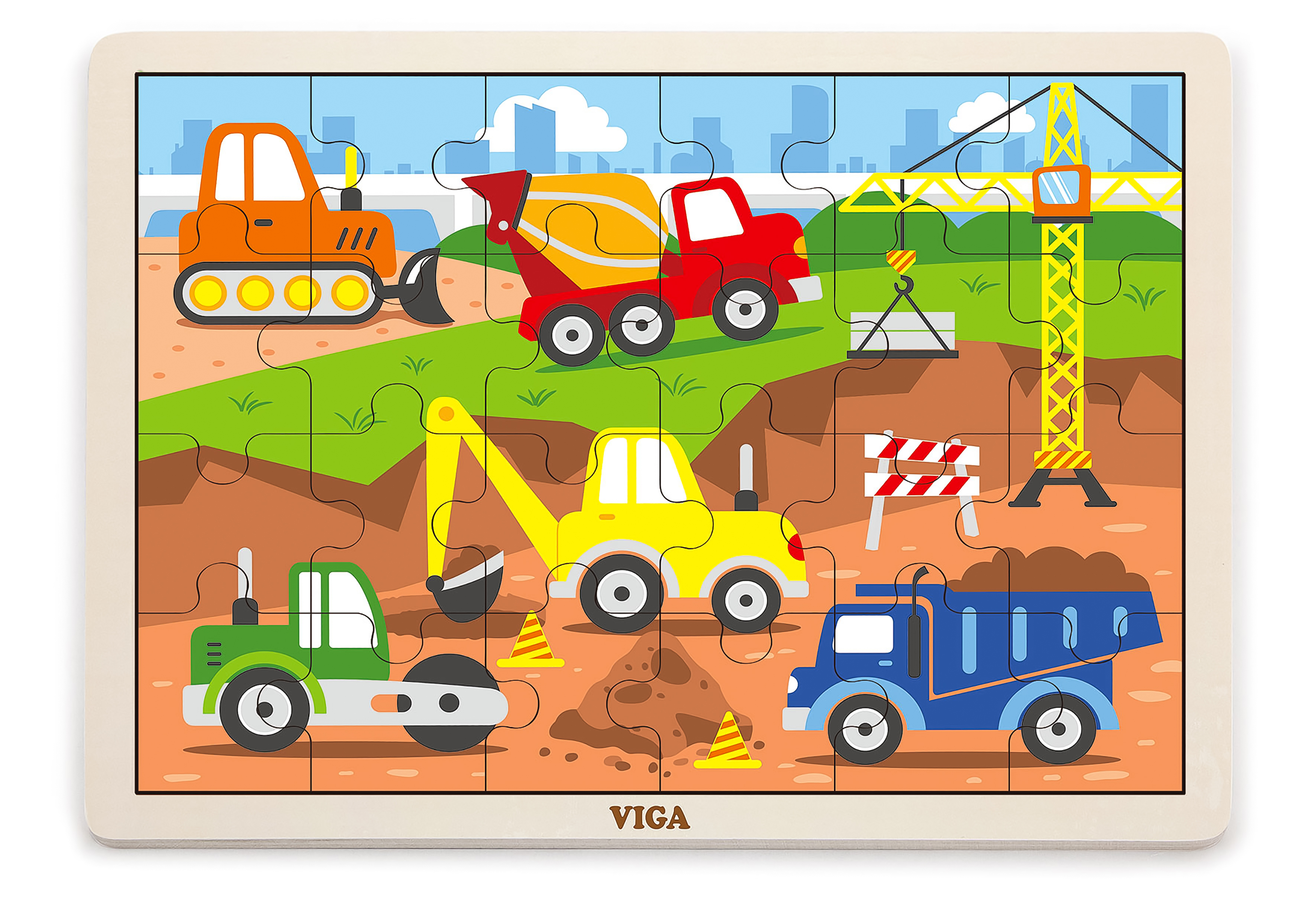 Viga 51463 Puzzle 24 osa - ehitusplats
