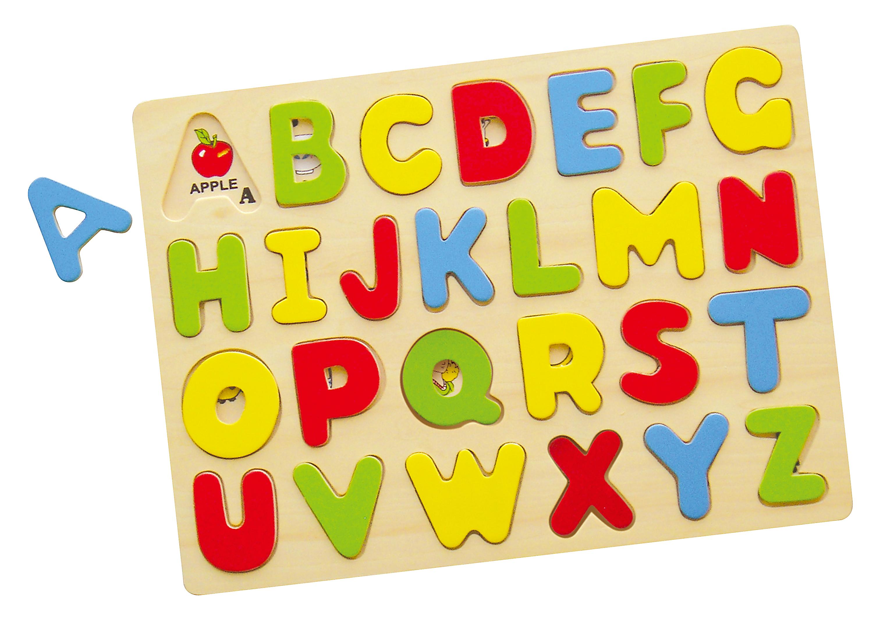 Viga 58543 Puzzle ukladanka na podkladce - alfabe..