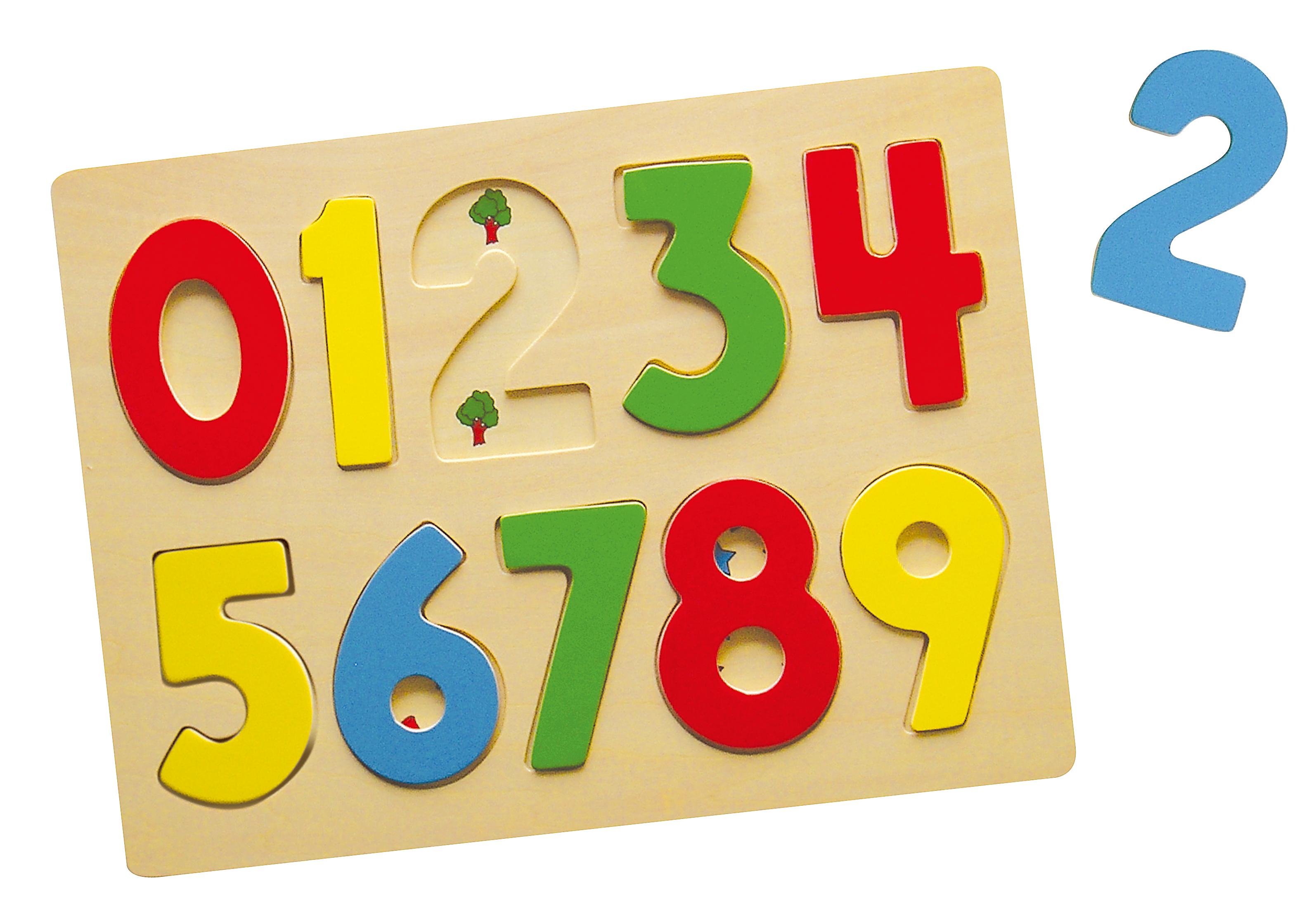 Viga 58545 Puzzle ukladanka na podkladce cyferki