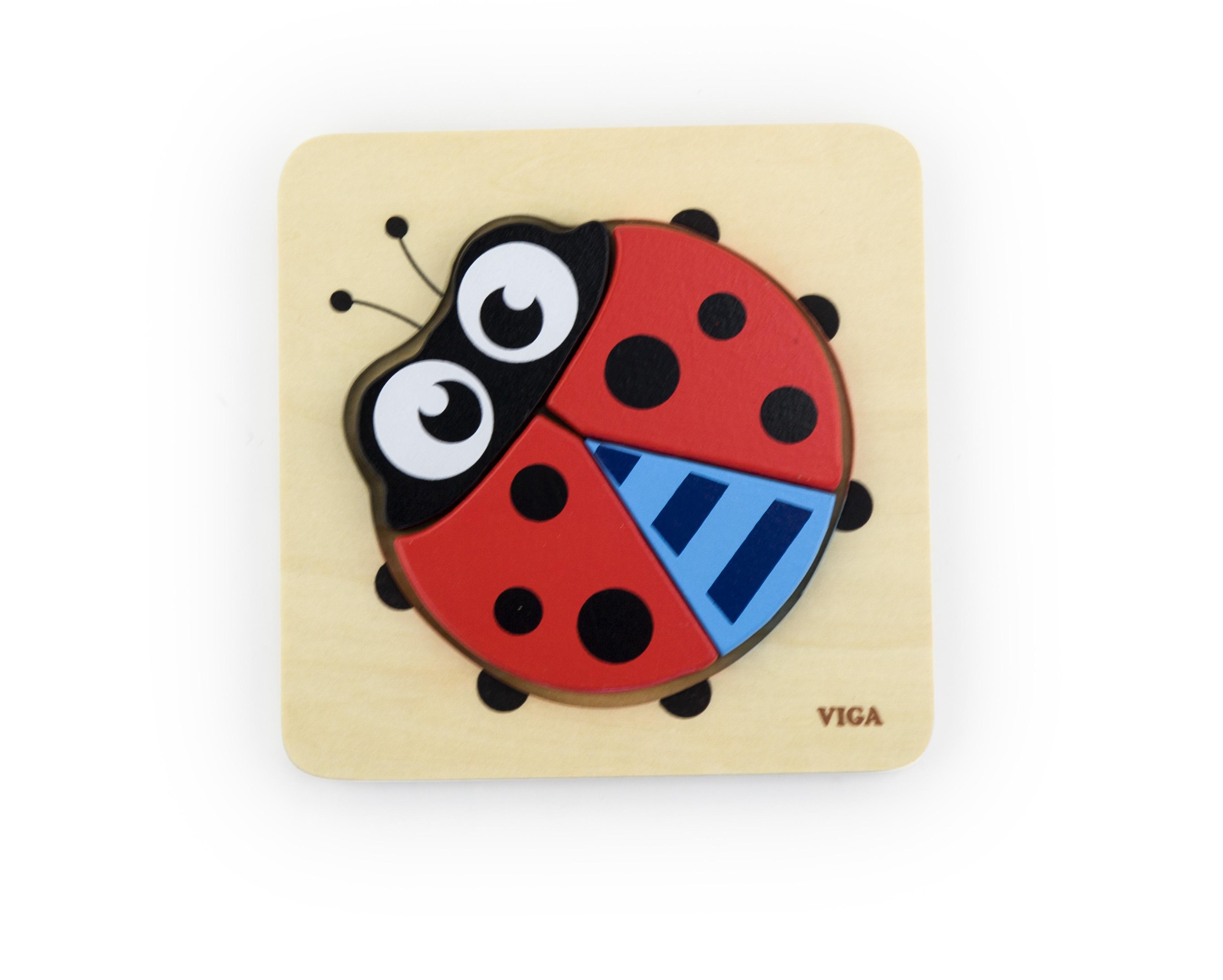 Viga 50168 Pierwsze puzzle maluszka - biedronka