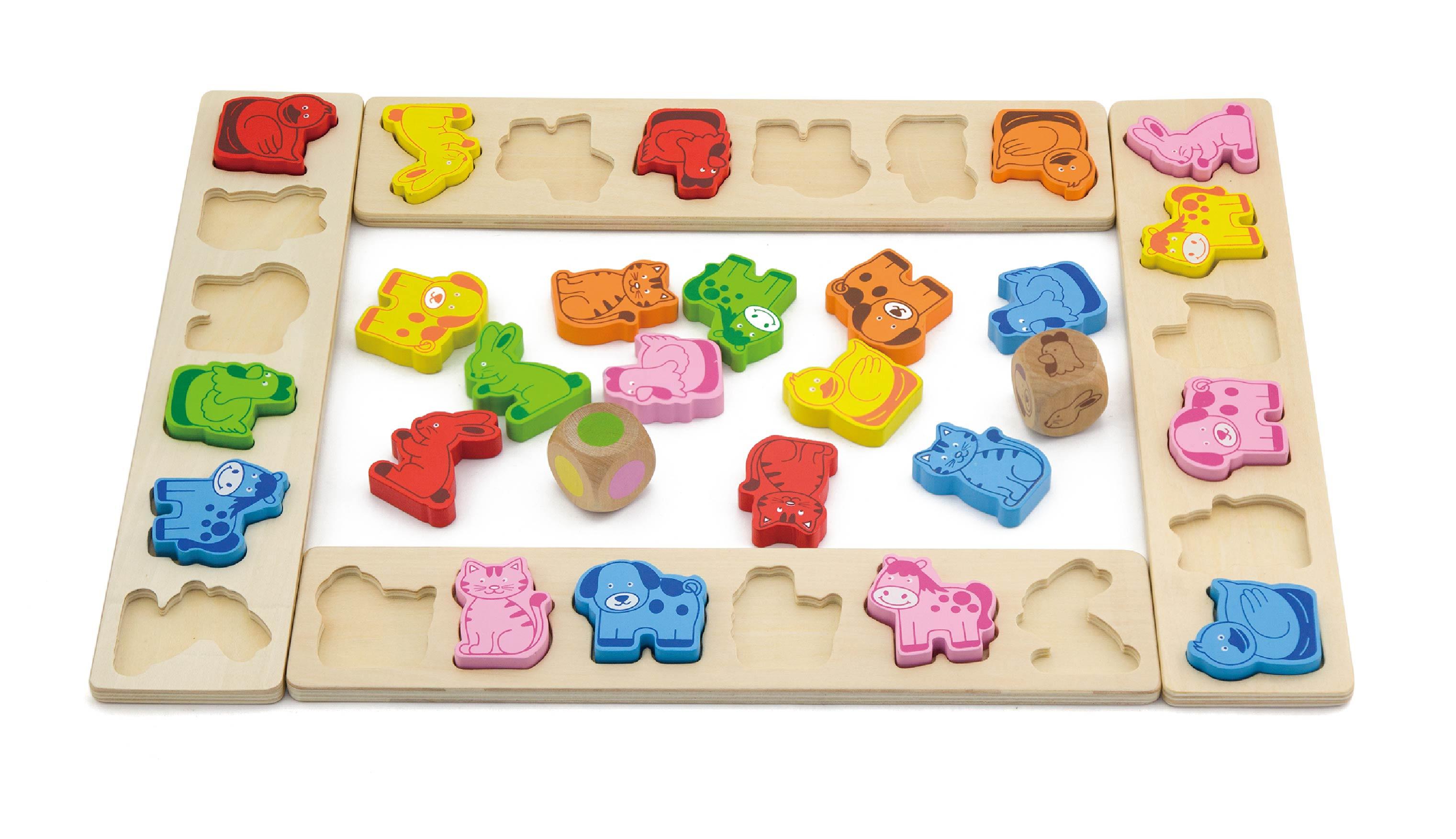 Viga 50450 Puidust puzzle - loomade karneval