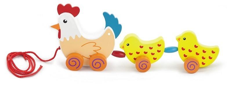 Viga 50078 Järeleveetav puidust mänguasi - Kana ..
