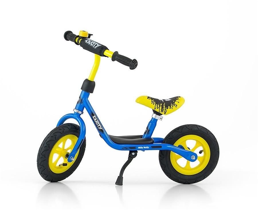 """Rowerek Biegowy Dusty 10"""" Blue-Yellow (51134, Milly Mally)"""
