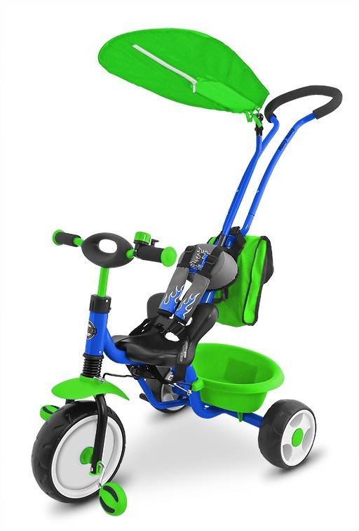 Milly Mally Rowerek Boby Deluxe 2014 Blue - Green P (0107, Milly Mally)