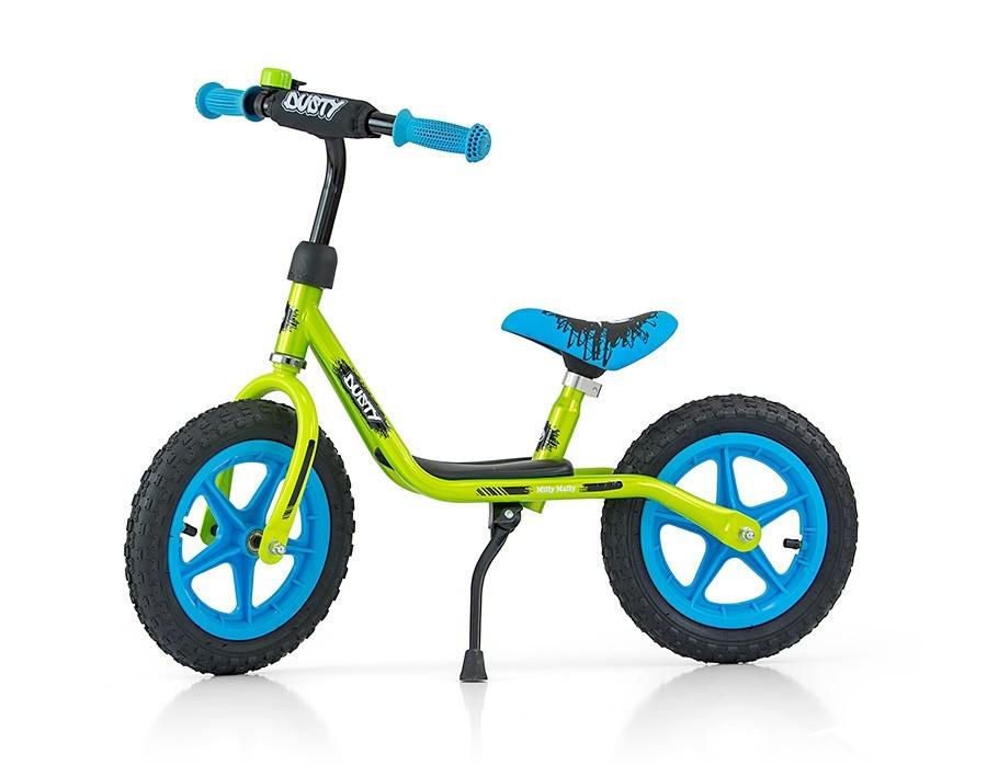 "Rowerek Biegowy Dusty 12"" Green-Blue (51141, Milly Mally)"