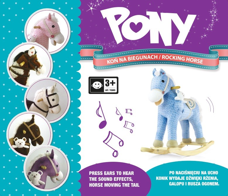 Milly Mally kiikhobune Pony Purple