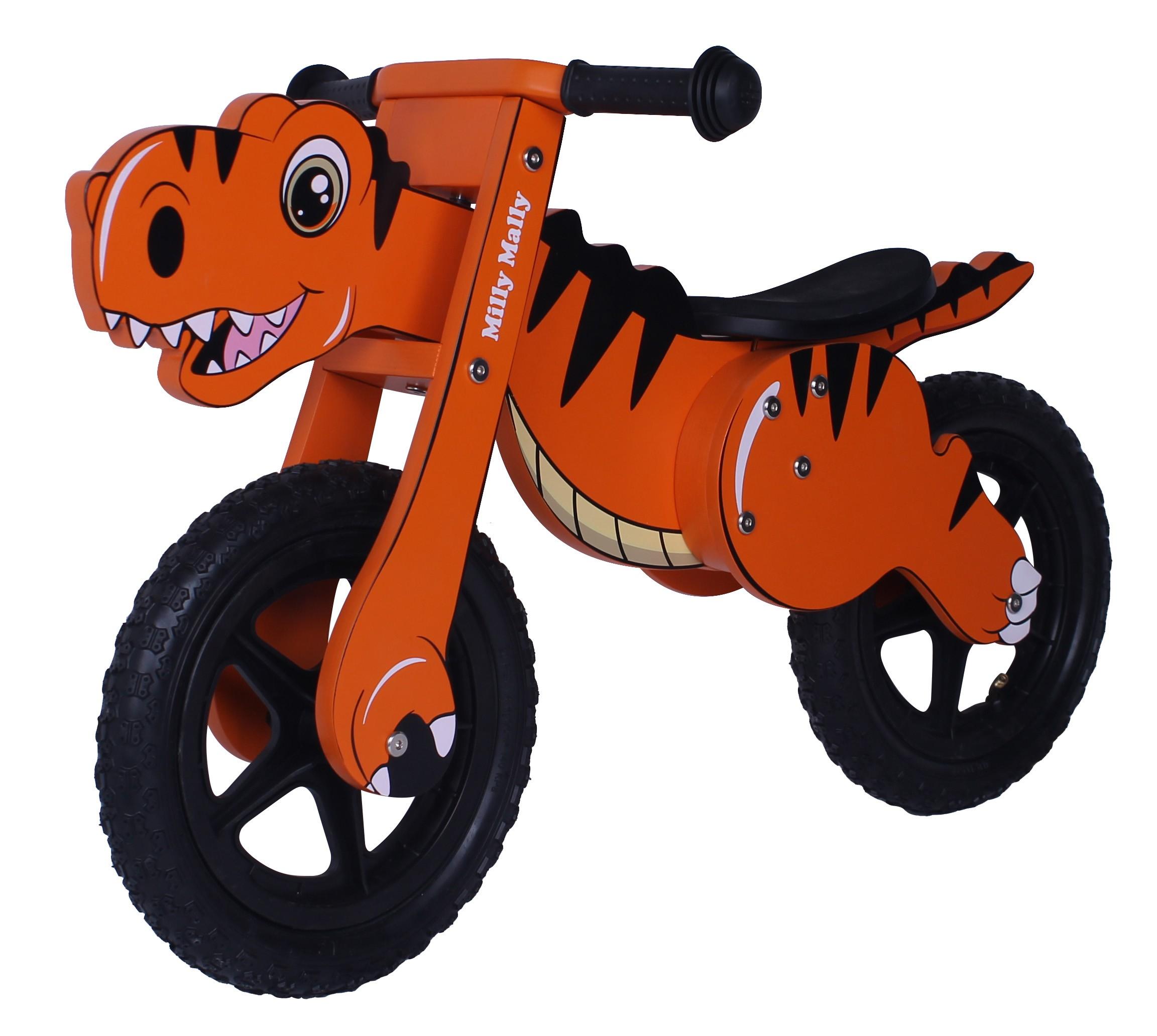 Milly Mally puidust jooksuratas Dino Orange