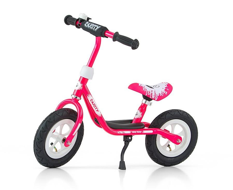 """Rowerek Biegowy Dusty 10"""" Pink-White (51138, Milly Mally)"""