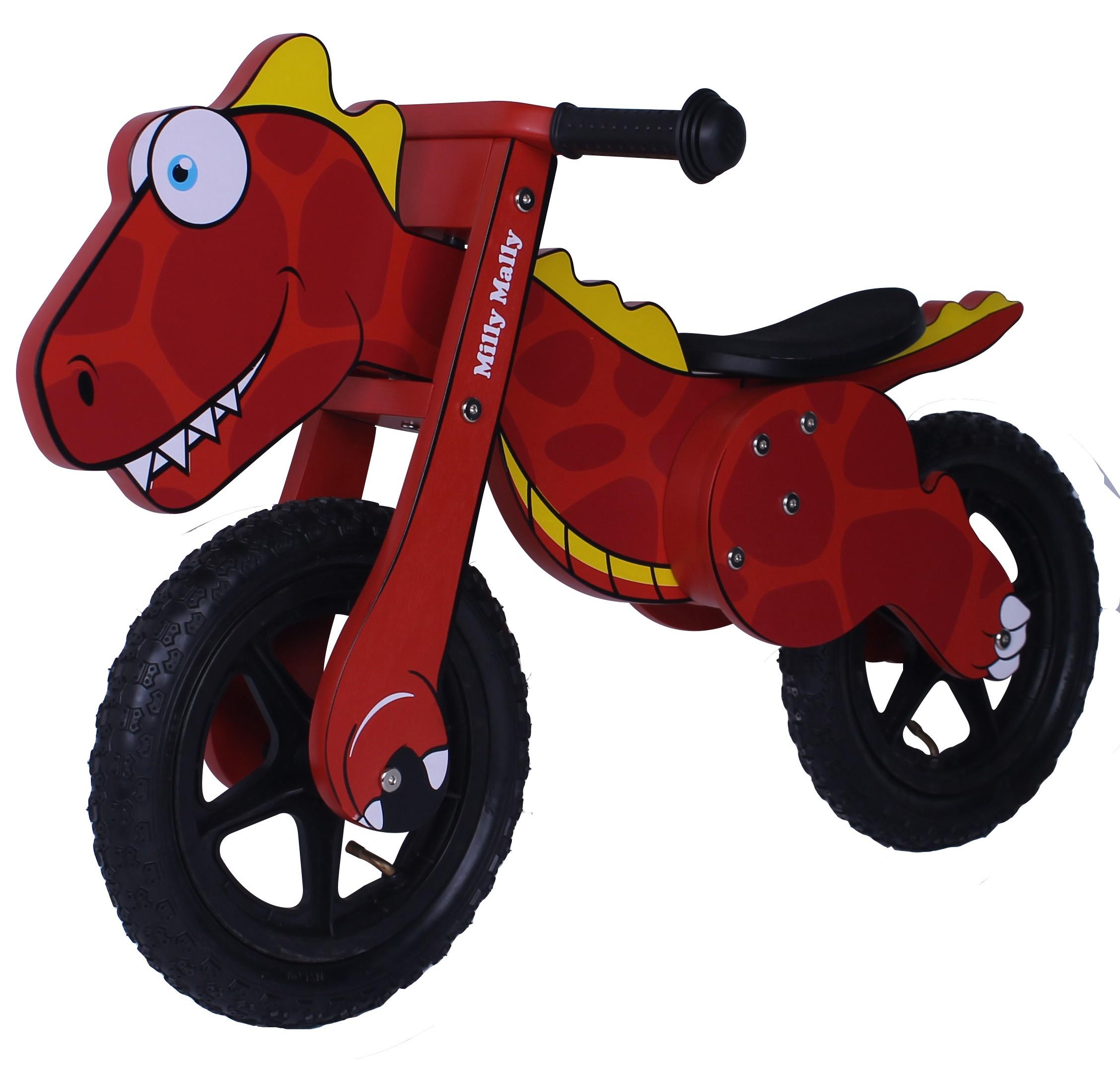 Milly Mally puidust jooksuratas Dino Red